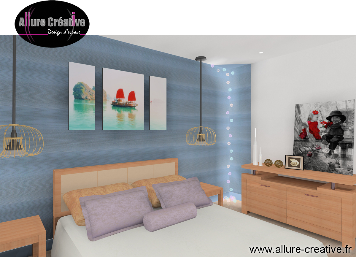 Chambre bleu Japonaise