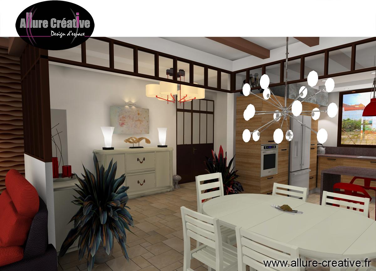 Entrée + cuisine façade bois