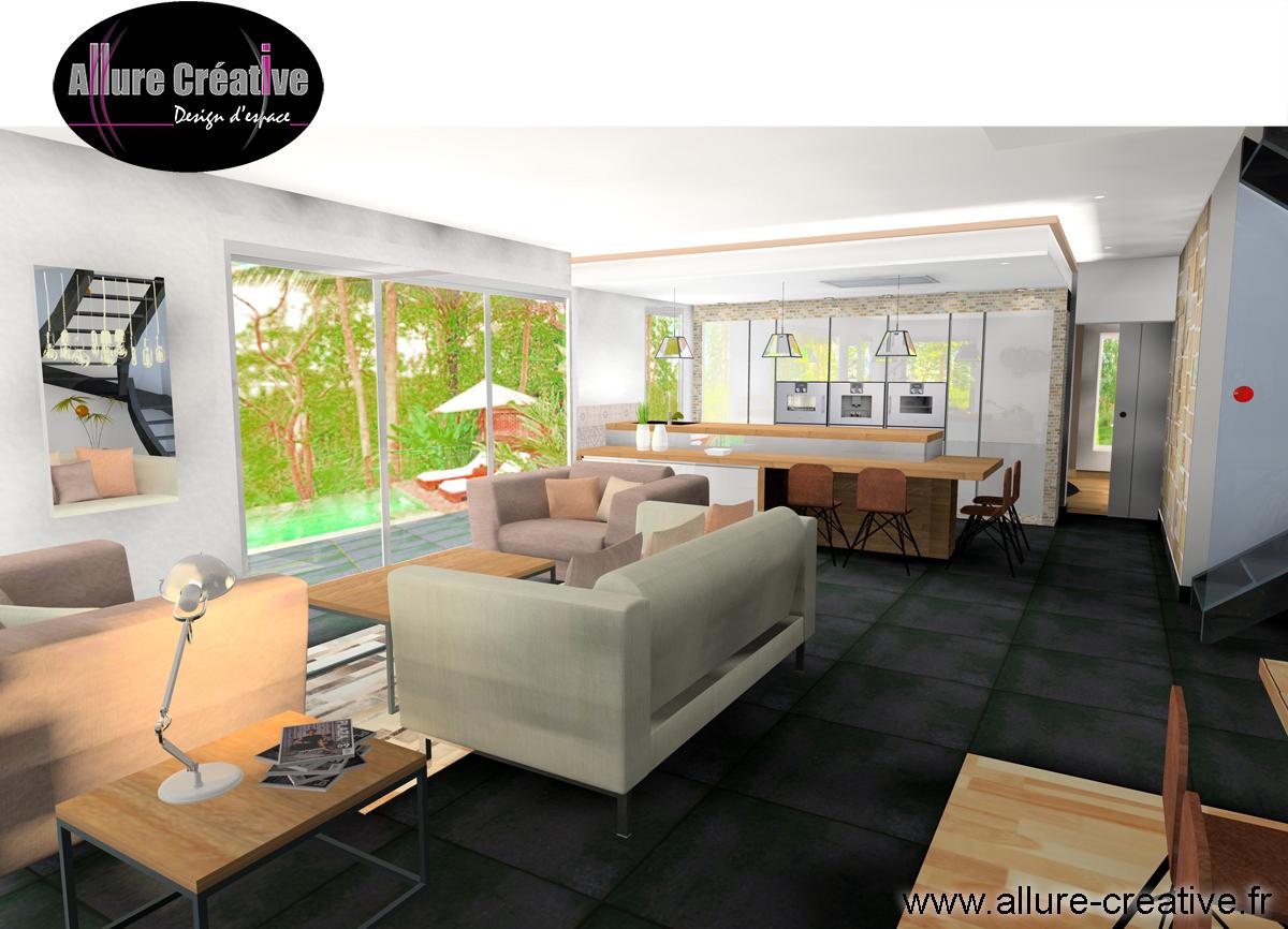 Salon séjour industriel