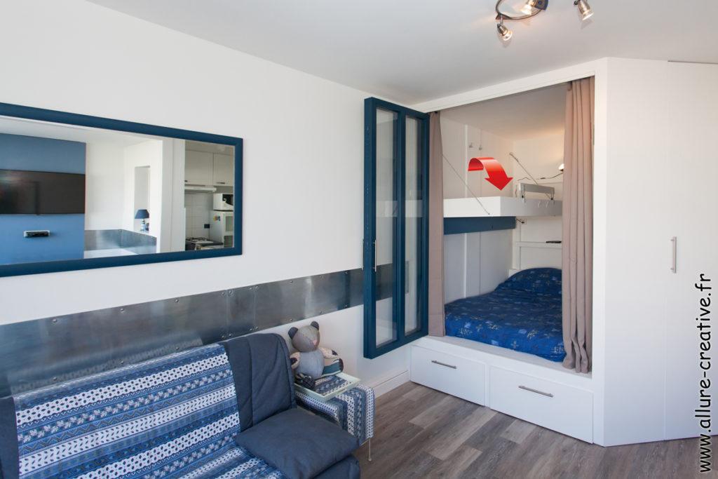 alcove_chambre_couchage_lit-rabattable_verriere_studio_les_sables_gain_de_place