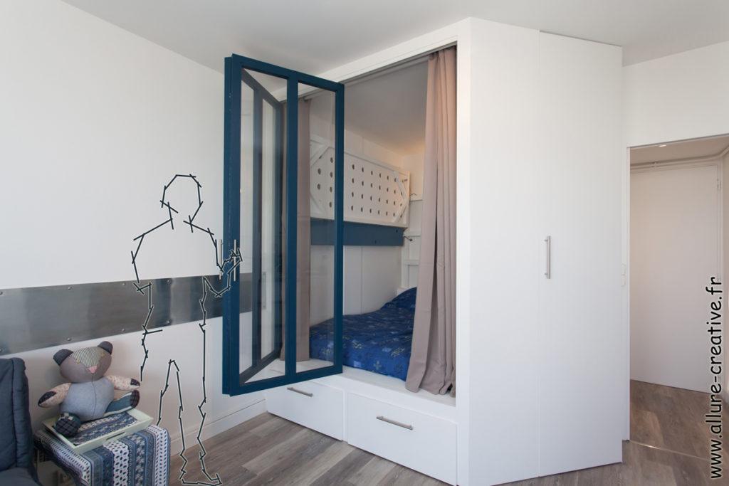 alcove_chambre_couchage_verriere_studio_les_sables_ambiance_vacances