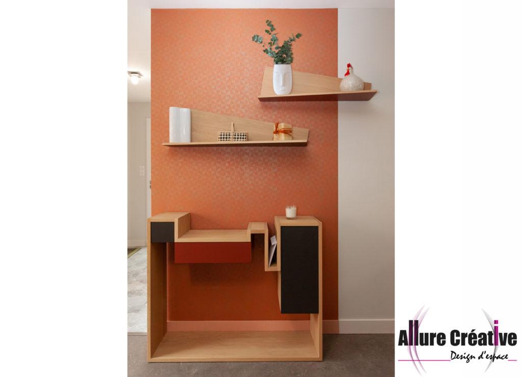 console_bois_papier_abricot_dore